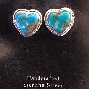 Jewelry - 🔆NATIVE AMERICAN EARRINGS HEARTS TURQUOISE🔆